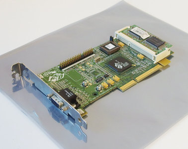 ATI Rage Pro Turbo PN 109-40200-20 VGA graphics video AGP PC card adapter - vintage retro 90s