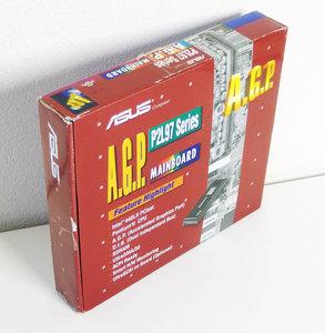 New Asus P2L97-S rev. 2.01 slot 1 ATX PC motherboard main system board complete in box - CIB NOS ISA PCI AGP SCSI Pentium II PII P2 Intel 440LX