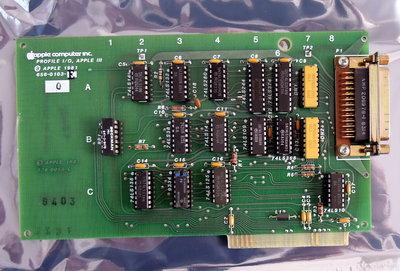 Apple III Profile I/O DB-25 controller card 656-0103-E / 820-0056-C - vintage retro 80s