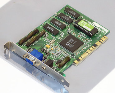 Diamond Stealth 3D 2000 S3 Virge 2MB VGA graphics video PCI PC card adapter - Pentium Windows 95 vintage retro 90s #2