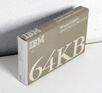 IBM 1501003 64KB memory module kit - 1501989 OKI M3764-20RS 64Kx1 8KB 200ns 16-pin DIP RAM DRAM chip vintage retro 80s