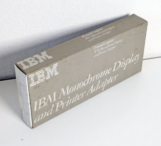 IBM 1504900 1501985XM MDA black & white graphics video / parallel 8-bit ISA card adapter in box - 5150 5160 PC XT 8088 DOS vintage retro 80s