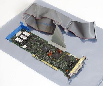 IBM FRU 15F6561 SCSI controller 32-bit MCA card w/ cable - HD HDD drive HD-50 adaptor interface PS/2 vintage retro