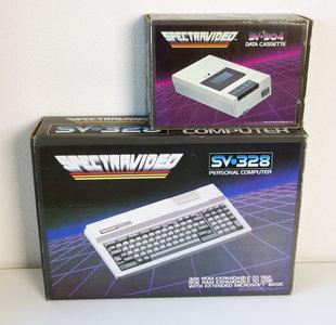 Spectravideo SV 328 home computer w/ SV 904 data cassette recorder - SVI vintage retro 80s