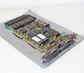 ATI VGA Wonder-16 VGA / EGA / CGA / MDA combo graphics video 16-bit ISA card adapter - DOS Windows 3.x 286 386 90s