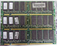 Set 3x NEC MC-4532CD647PF-A75 256MB 768MB kit PC133 CL3 168-pin DIMM SDRAM memory modules - COMPAQ P/N 140134-001 HP 1818-8151