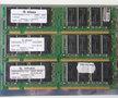 Set 3x Infineon HYS64V32220GU-7.5-C2 / HP 1818-8792 256MB 768MB kit PC133 CL3 168-pin DIMM SDRAM memory modules - P1538-63010 COMPAQ P/N 140134-001