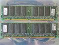 Set 2x ELPIDA MC-4532CD647XFA-A75 / HP 1818-8792 256MB 512MB kit PC133 CL3 168-pin DIMM SDRAM memory modules - P1538-63010