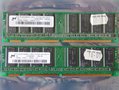 Set 2x Micron MT16LSDT3264AG-13EB1 256MB 512MB kit PC133 CL2 168-pin DIMM SDRAM memory modules