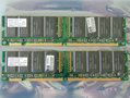 Set 2x Hyundai HYM71V32635HCT8-HD AA / HP 1818-8151 256MB 512MB kit PC133 CL3 168-pin DIMM SDRAM memory modules - P1538-63001