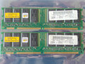 Set 2x Hyundai HYM71V633201 TH-75 AA / IBM FRU 33L3076 256MB 512MB kit PC133 CL3 168-pin DIMM SDRAM memory modules