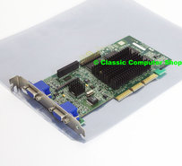 Matrox-Millennium-G400-32MB-MGI-G4+MDH4A32G-dual-VGA-graphics-video-AGP-PC-card-adapter