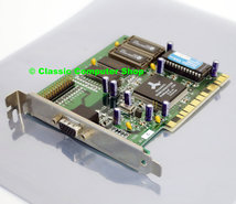 Diamond-Stealth-Video-2500-Alliance-ProMotion-AT24-2MB-VGA-graphics-video-PCI-PC-card-adapter-Pentium-Windows-95-vintage-retro-90s