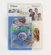 New-AOpen-X-Fan-blue-pink-green-white-LED-80mm-NOS-ATX-case-enclosure