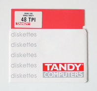 New-loose-Tandy-5.25-DS-DD-double-sided-double-density-red-floppy-disk-unformatted-NOS-vintage-retro-80s-Acorn-BBC-Apple-IIe-Atari-800XL-Commodore-C64-IBM-PC-XT-DOS