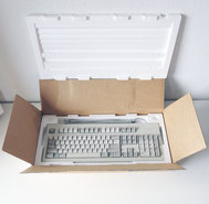 New-Hewlett-Packard-HP-C1429C-C1429-60401-QWERTY-HP-HIL-grey-PC-keyboard-NOS-Vectra-vintage-retro-80s-90s