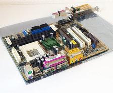 Asus-CUV4X-M-rev.-1.02-socket-370-mATX-PC-motherboard-main-system-board-S370-Pentium-III-3-PIII-P3-Coppermine-Celeron-FC-PGA-sound-AGP-PCI-VIA-Apollo-Pro-133A