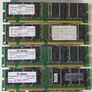 Set-4x-Infineon-HYS64V32220GU-7.5-C2-COMPAQ-P-N-140134-001-256MB-1GB-kit-PC133-CL3-168-pin-DIMM-SDRAM-memory-modules
