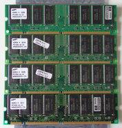 Set-4x-Samsung-M366S3323DTS-C7A-HP-1818-8792-256MB-1GB-kit-PC133-CL3-168-pin-DIMM-SDRAM-memory-modules-P1538-63010-COMPAQ-P-N-140134-001