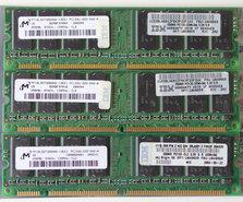 Set-3x-Micron-MT16LSDT3264AG-13EE1-IBM-FRU-10K0060-256MB-768MB-kit-PC133-CL2-168-pin-DIMM-SDRAM-memory-modules