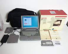 Toshiba-Tecra-520CDT-laptop-|-12.1-TFT-LCD-|-Pentium-MMX-166MHz-|-Yamaha-OPL3-|-2.1GB-HDD-|-160MB-RAM-|-CD-ROM-|-FDD-|-Windows-95-|-notebook-portable-computer-DOS-gaming-vintage-retro-game-CIB
