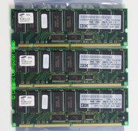 Set-3x-Samsung-M390S3320BT1-C75-IBM-FRU-33L3126-256MB-768MB-kit-PC133-CL3-168-pin-DIMM-ECC-registered-SDRAM-memory-modules