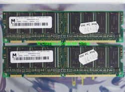 Set-2x-Micron-MT16LSDT1664AG-10EC7-128MB-256MB-kit-PC100-CL2-168-pin-DIMM-SDRAM-memory-modules