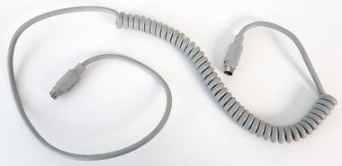 Apple-ADB-coiled-keyboard-cable-590-0361-A-100-cm-grey-vintage-retro-Macintosh-SE-Classic-Performa-IIgs