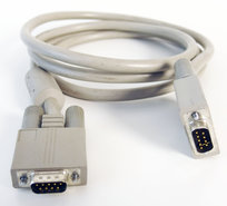 DE-9-9-pin-D-Sub-male-male-serial-RS232-extension-cable-180-cm-grey-vintage-retro-DB9