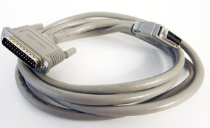 HP-C6680-80003-DB-25-25-pin-D-Sub-male-to-mini-centronics-parallel-RS232-LPT-printer-cable-190-cm-grey-vintage-retro-Officejet