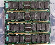 Set-4x-Fujitsu-8117805B-60-32-MB-32MB-128-MB-128MB-kit-60-ns-60ns-168-pin-DIMM-EDO-RAM-memory-modules-Apple-Power-Macintosh-9500