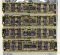 Set-4x-Kingston-KTN-1100-SX-kit-80ns-80-pin-tin-contacts-SIMM-parity-RAM-memory-modules-vintage-retro-90s