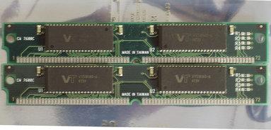 Set-2x-Viking-Technology-VT518160-6--MB-kit-60ns-72-pin-SIMM-non-parity-RAM-memory-modules-vintage-retro-90s