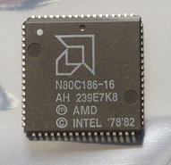 AMD-80186-N80C186-16-16-MHz-PLCC68-CPU-16MHz-processor-vintage-retro-80s