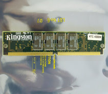 Kingston-KTC-4000N-4-MB-4MB-70-ns-70ns-72-pin-gold-contacts-SIMM-parity-FPM-RAM-memory-module-vintage-retro-90s