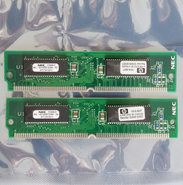 Set-2x-HP-1818-6837-NEC-MC-421000F32BA-60-4-MB-4MB-8-MB-8MB-kit-60-ns-60ns-72-pin-SIMM-non-parity-EDO-RAM-memory-modules-vintage-retro-90s