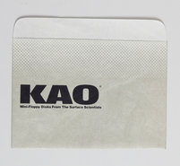 New-loose-KAO-5.25-floppy-disk-sleeve-dust-cover-protective-envelope-vintage-retro-80s