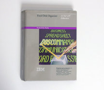 IBM-Fixed-Disk-Organizer-5.25-&-3.5-floppy-disk-PC-program-complete-DOS-vintage-retro-80s