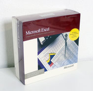 New-&-sealed-Microsoft-Excel-2.2-English-3.5-disk-Apple-Macintosh-spreadsheet-complete-in-box-NIB-NOS-Mac-vintage-retro-80s