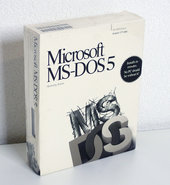 New-&-sealed-Microsoft-MS-DOS-5-OEM-English-3.5-disk-PC-operating-system-NOS-NIB-vintage-retro-90s