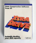 New-&-sealed-IIT-Xtra-Drive-English-3.5-&-5.25-floppy-disk-PC-file-compression-program-complete-in-box-NIB-NOS-DOS-Windows-3.x-vintage-retro-90s