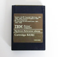 IBM-PCjr-BASIC-cartridge-version-1.00-P-N-1502460-vintage-retro-80s