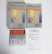 IBM-PCjr-5.25-floppy-disk-game-Trivia-101-The-Introductory-Course-Digital-Learning-Systems-complete-in-box-CIB-educational-DOS-vintage-retro-80s