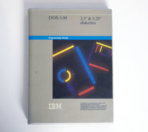IBM-DOS-3.30-Dutch-3.5-&-5.25-floppy-disk-PC-operating-system-complete-vintage-retro-80s