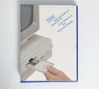IBM-Personal-System-2-model-55-SX-Quick-Reference-and-Reference-Diskette-PS-2-manual-system-disk-vintage-retro-90s