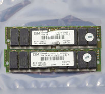 Set-2x-IBM-FRU-60G2900-4MB-8MB-kit-70ns-72-pin-SIMM-non-parity-FPM-RAM-memory-modules-vintage-retro-90s