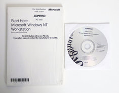 Microsoft-Windows-NT-Workstation-4.0-OEM-COMPAQ-English-CD-ROM-PC-operating-system-vintage-retro-90s
