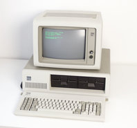 IBM-PC-XT-5160-+-5151-monitor-+-1501100-keyboard-set-DOS-8088-vintage-retro-80s