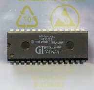 IBM-PC-AT-5170-1984-BIOS-U27-ROM-6181028-GI-9256D-0061-28-pin-DIP-chip-vintage-retro-80s