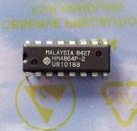 Hitachi-HM4864P-2-64Kx1-8KB-150ns-16-pin-DIP-RAM-DRAM-memory-chip-vintage-retro-80s